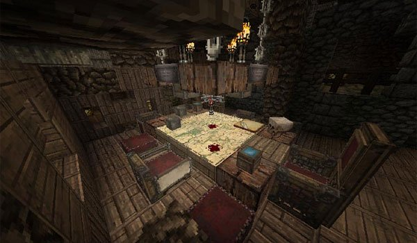 image of a room of a house using the textures conquest texture pack 1.8.