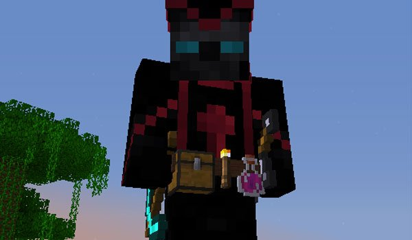 image where we see how objects are displayed in toolbelt on this Minecraft character.