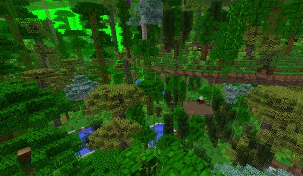 image of the new dimension offered by the mod erebus dimension 1.12.2 and 1.7.10.