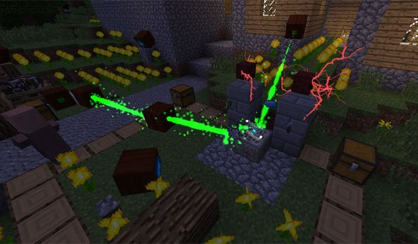 image where we see various objects of the botania mod 1.14.4, 1.12.2 and 1.11.2.