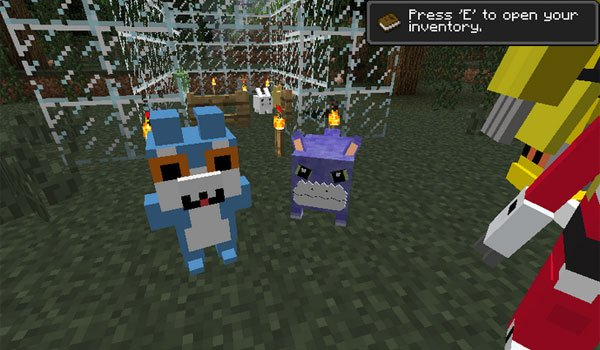 image of the new mobs that adds digimobs mod 1.12.2, 1.11.2 and 1.10.2.