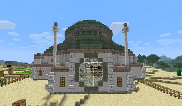 image of a building using the underground biomes construct mod 1.7.2 and 1.7.10.