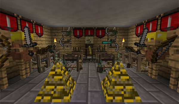 image with various elements added by the mod, ye gamol chattels 1.7.2 and 1.7.10.