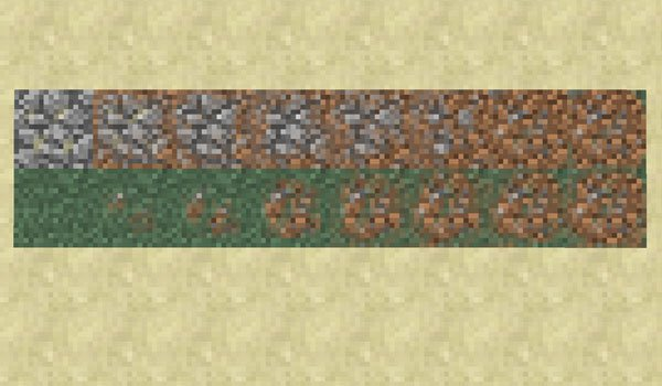 image we see gradients between materials, which allows us the footpaths mod 1.7.2.