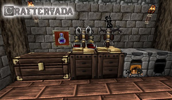 image we see some objects decorated with crafteryada texture pack 1.12 and 1.11.