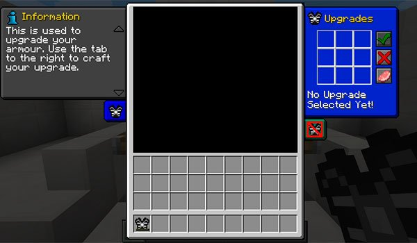 image of the new interface adds for modular armour mod 1.7.10.