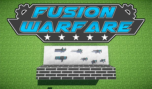 sample image where we can see some of the weapons adds from fusion warfare 1.7.10