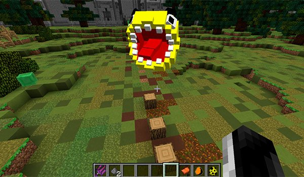 image where we can see the new mob added by pacman horror mod.