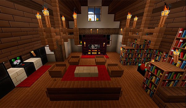 picture of the inside of a house decorated with textures marvelouscraft 1.11.