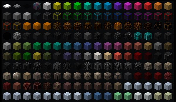 sample image where we can see a small part of the decorative blocks added by the ztones mod 1.7.10.