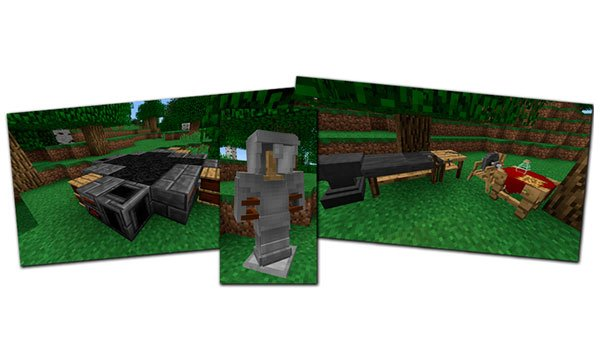 image where we can see some of the useful objects that lets you create this mod.