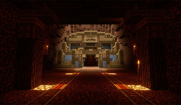 picture of the inside of the mine, inhabited by undead.